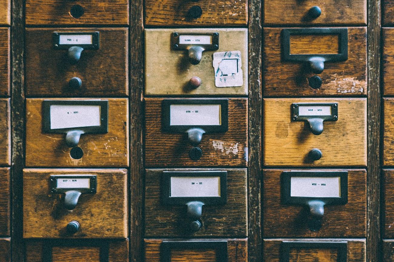 cassetti scrivania - archivio
